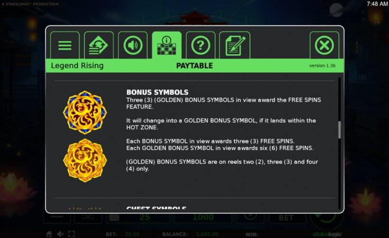 Legend Rising :: Scatter Symbol Rules