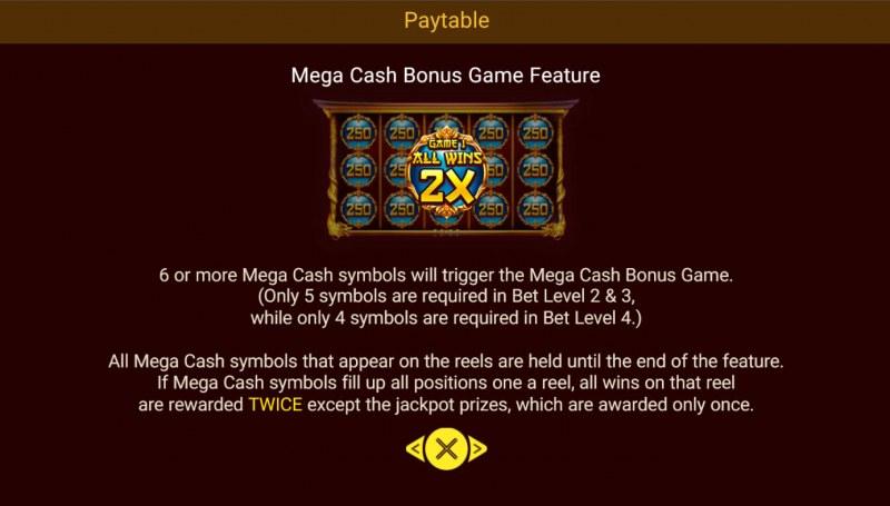 Legendary Beasts Saga :: Mega Cash Bonus Game Feature