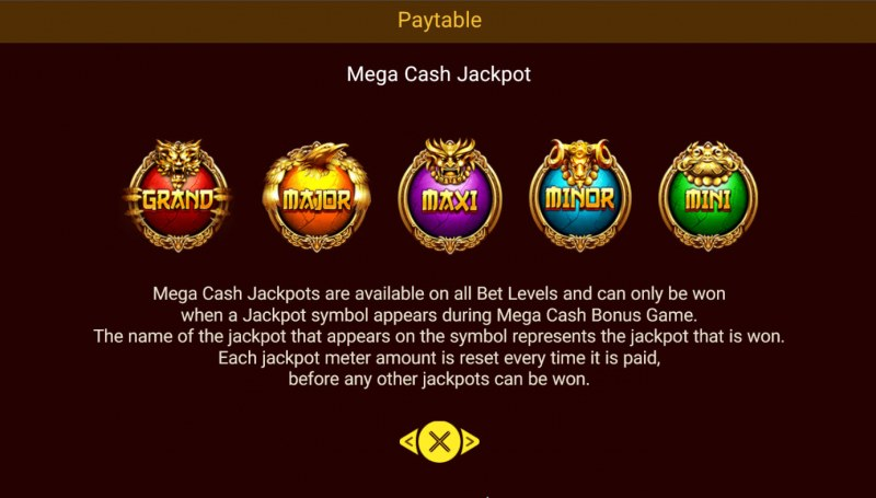 Legendary Beasts Saga :: Mega Cash Jackpot
