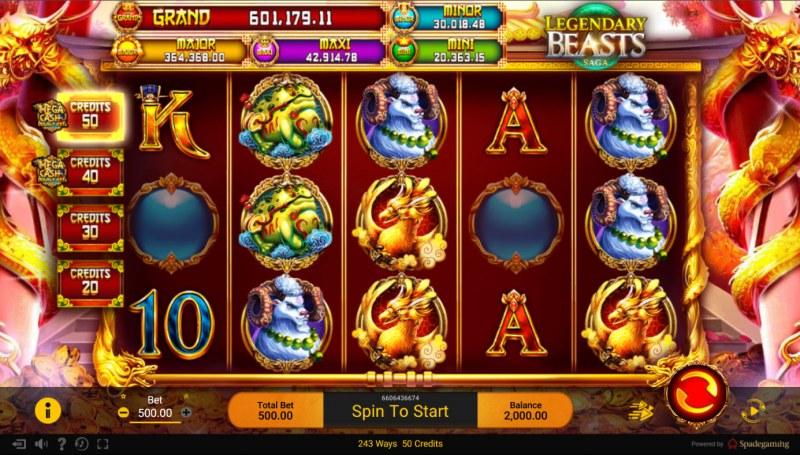 Legendary Beasts Saga :: Base Game Screen