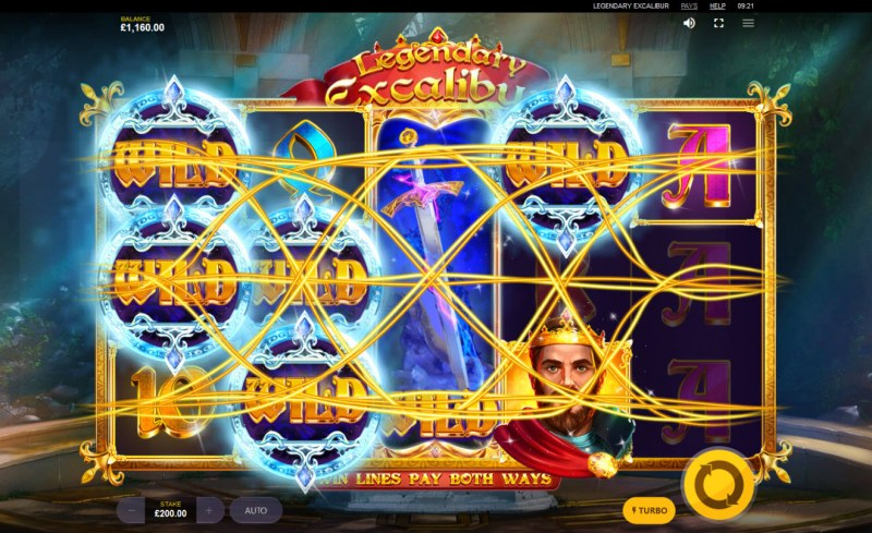 Legendary Excalibur :: Multiple winning combinations leads to a big win