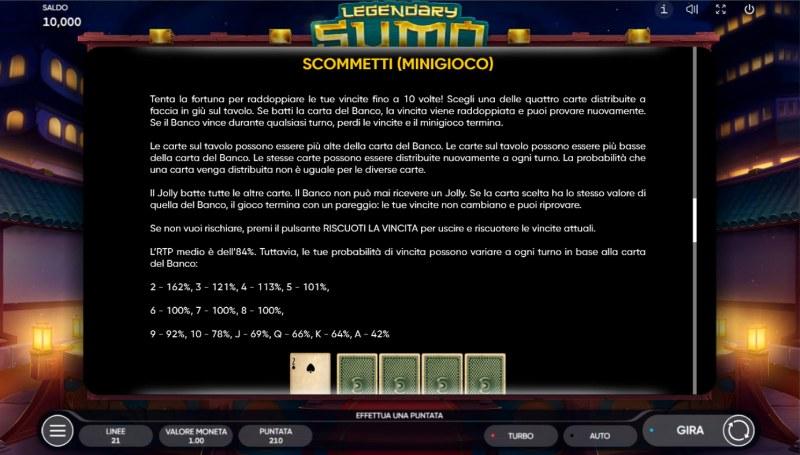 Legendary Sumo :: Gamble feature