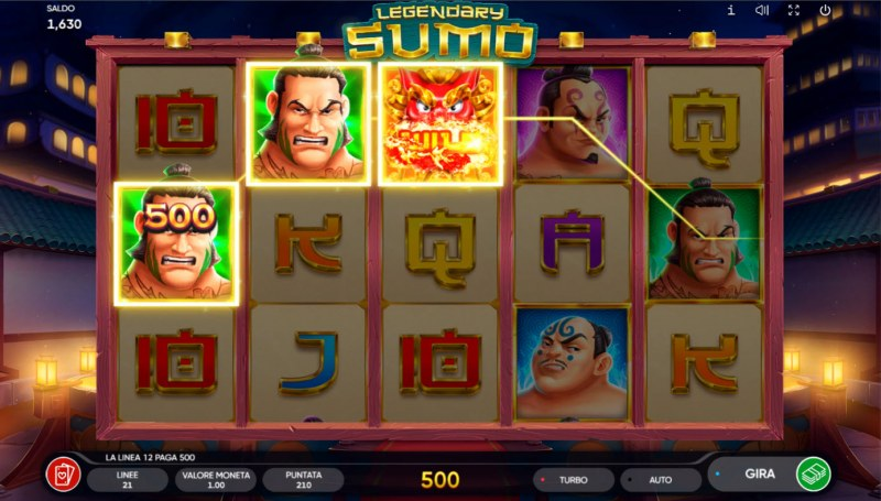 Legendary Sumo :: A three of a kind win