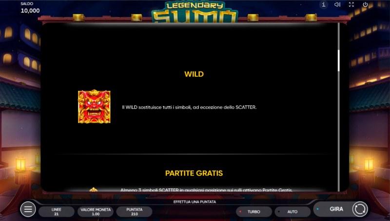 Legendary Sumo :: Wild Symbol Rules