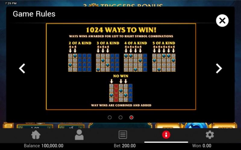 Legendary :: 1024 Ways to Win