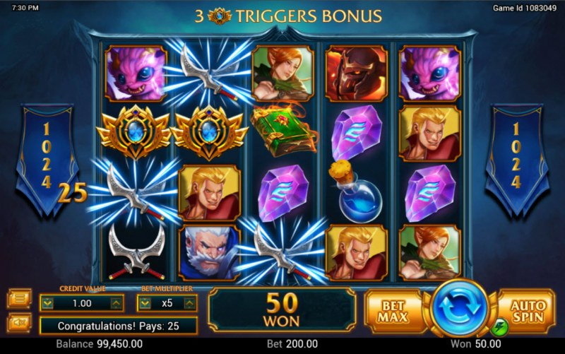 Legendary :: A three of a kind win
