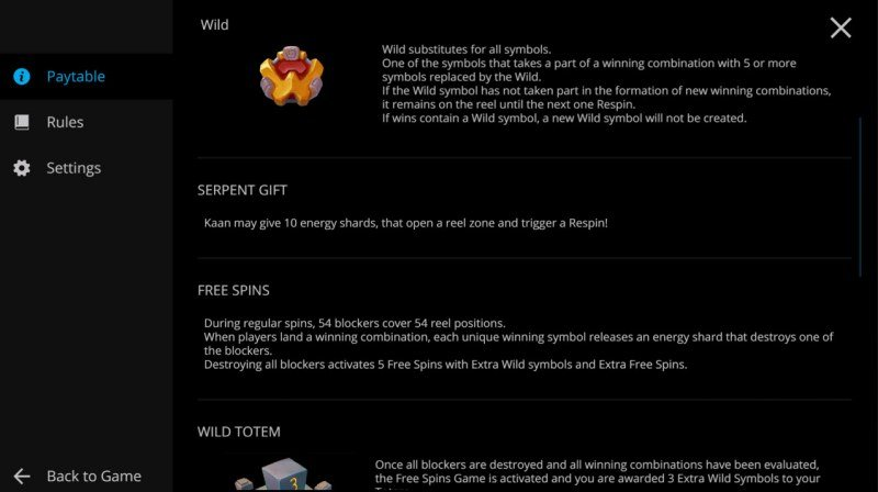 Legends of Kaan :: Wild Symbol Rules
