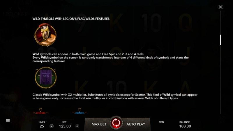 Legioner :: Wild Symbols Rules
