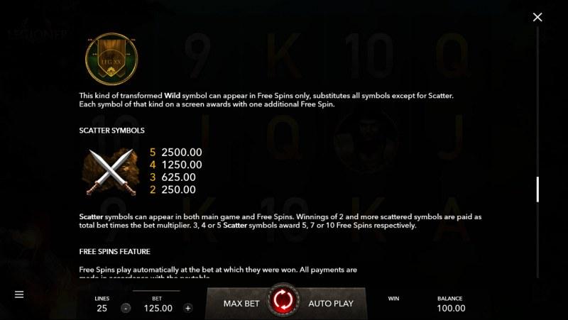 Legioner :: Scatter Symbol Rules