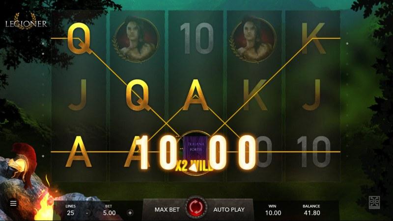 Legioner :: Multiple winning paylines