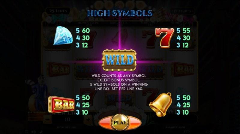 Lemur Does Vegas Easter Edition :: Paytable - High Value Symbols
