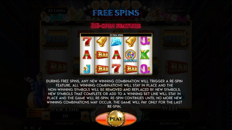 Lemur Does Vegas Easter Edition :: Free Spins Rules