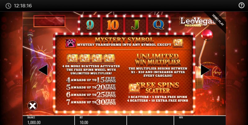 Leo Vegas Megaways :: Free Spins Rules