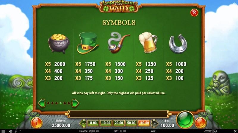 Leprechaun Goes Wild :: Paytable - High Value Symbols