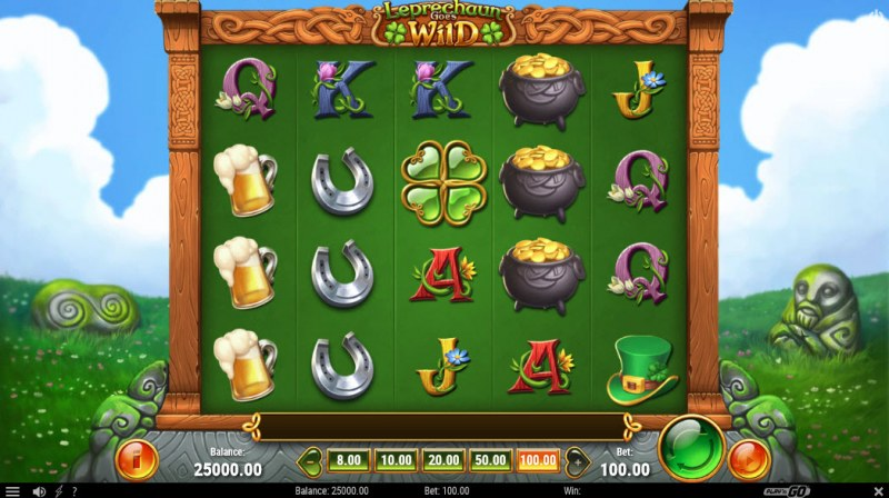 Leprechaun Goes Wild :: Main Game Board