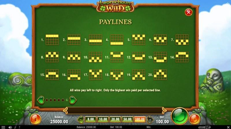Leprechaun Goes Wild :: Paylines 1-20