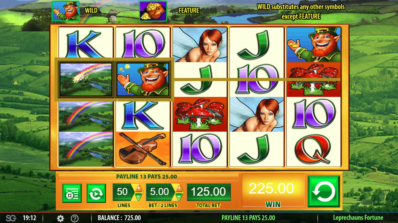 Play slots at Wicked Jackpots: Wicked Jackpots featuring the Video Slots Leprechaun's Fortune with a maximum payout of $250,000