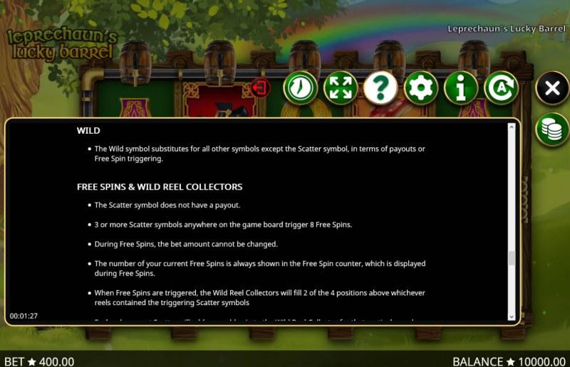 Leprechaun's Lucky Barrel :: General Game Rules