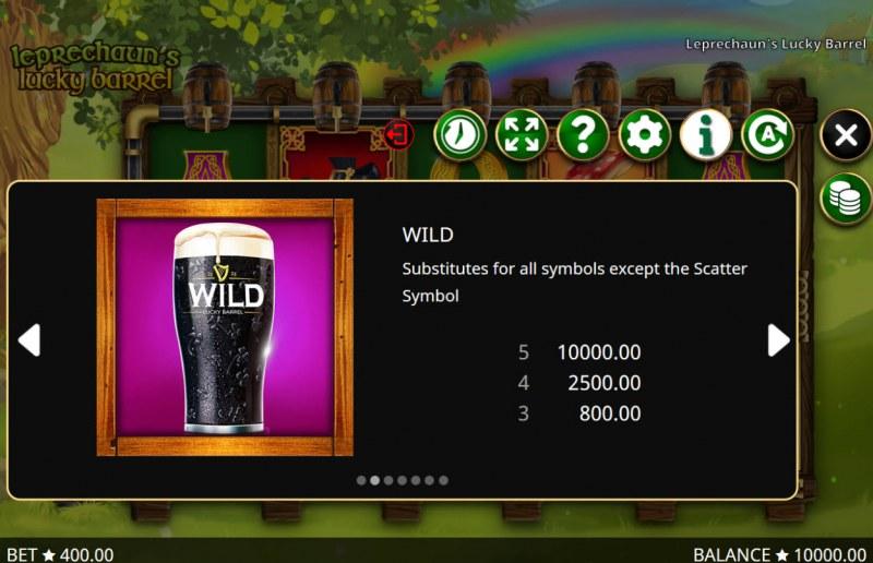 Leprechaun's Lucky Barrel :: Wild Symbols Rules