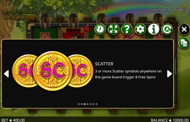 Leprechaun's Lucky Barrel :: Scatter Symbol Rules