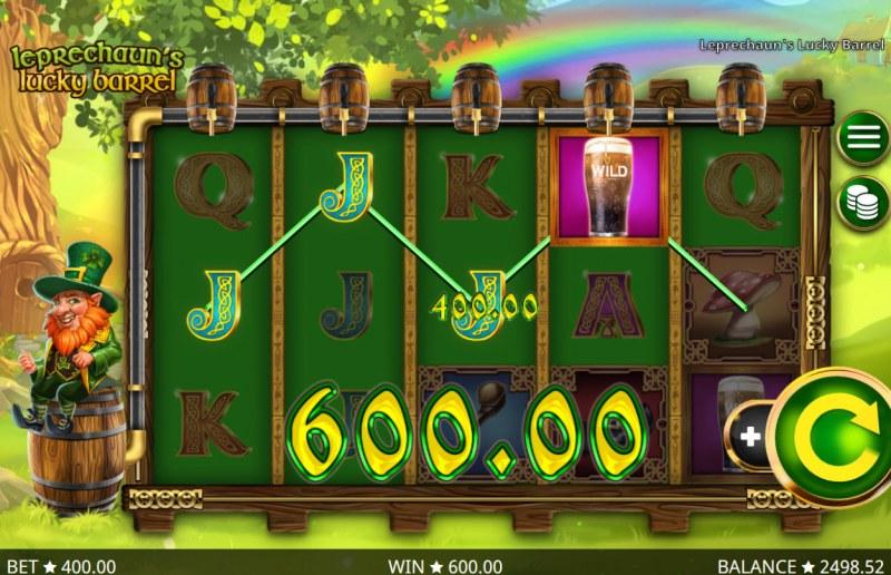 Leprechaun's Lucky Barrel :: Four of a kind