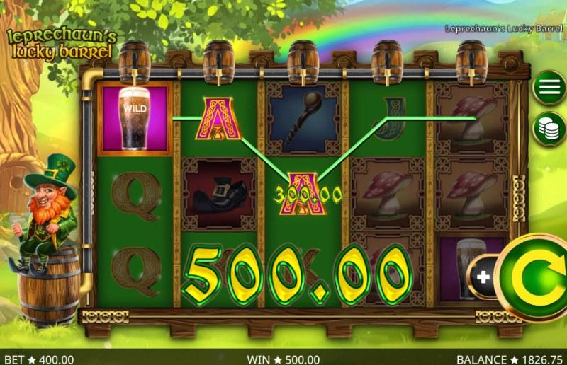 Leprechaun's Lucky Barrel :: Multiple winning paylines