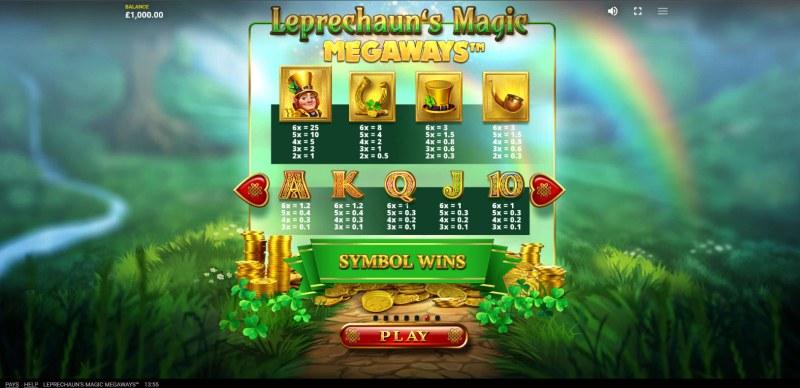 Leprechaun's Magic Megaways :: Paytable