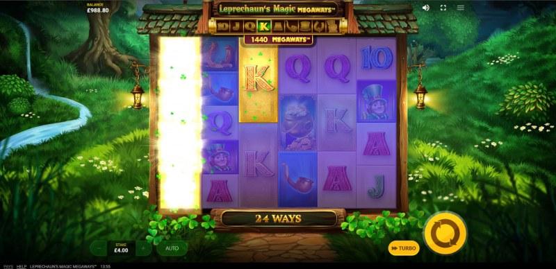 Leprechaun's Magic Megaways :: Gold symbols triggered