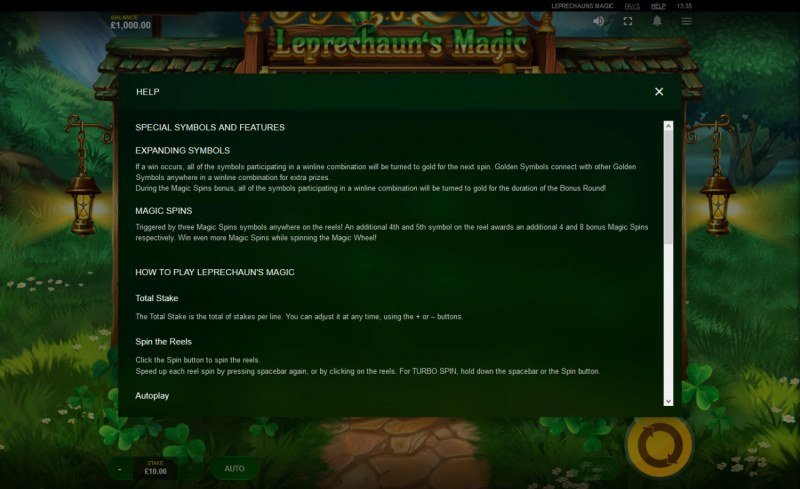 Leprechaun's Magic :: General Game Rules