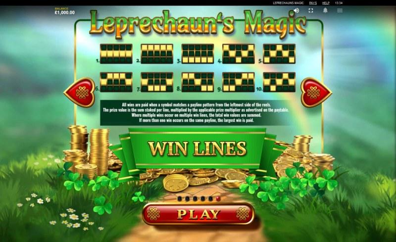Leprechaun's Magic :: Paylines 1-10