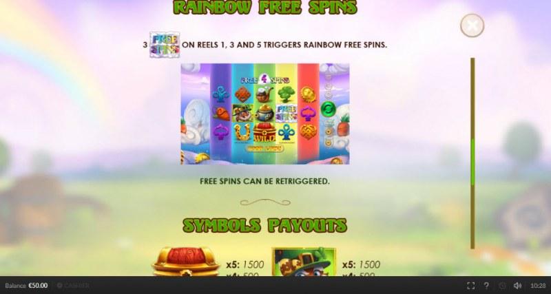 Lepry Bunny :: Rainbow Free Spins