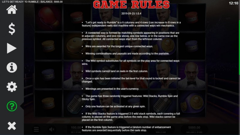 Let's Get Ready to Rumble :: General Game Rules