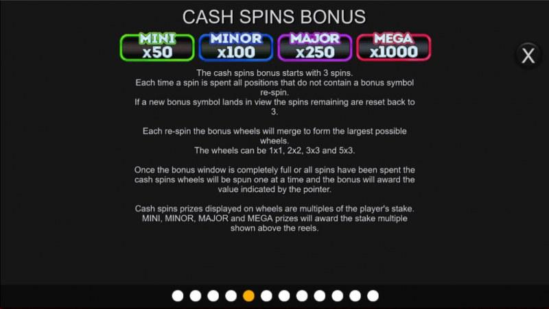 Liberty Cash Spins :: Cash Spin Bonus