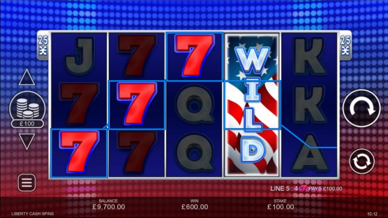 Liberty Cash Spins :: Multiple winning paylines