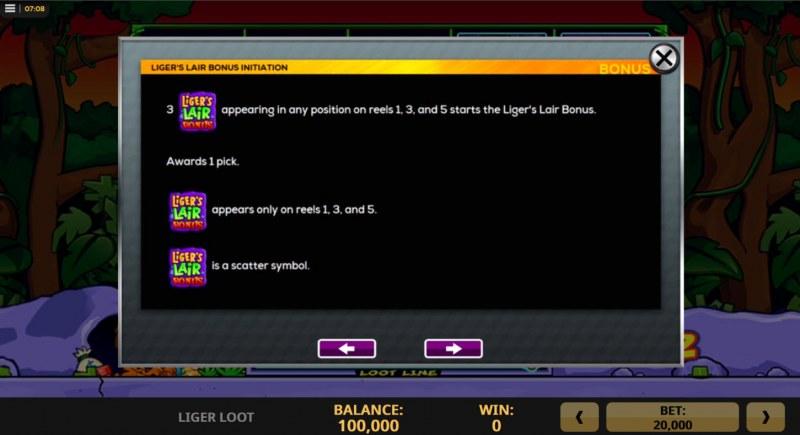 Liger Loot :: Scatter Symbol Rules