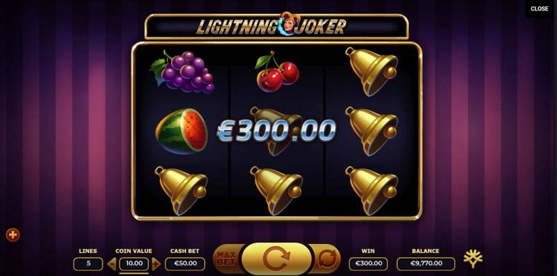 Lightning Joker :: Three of a kind