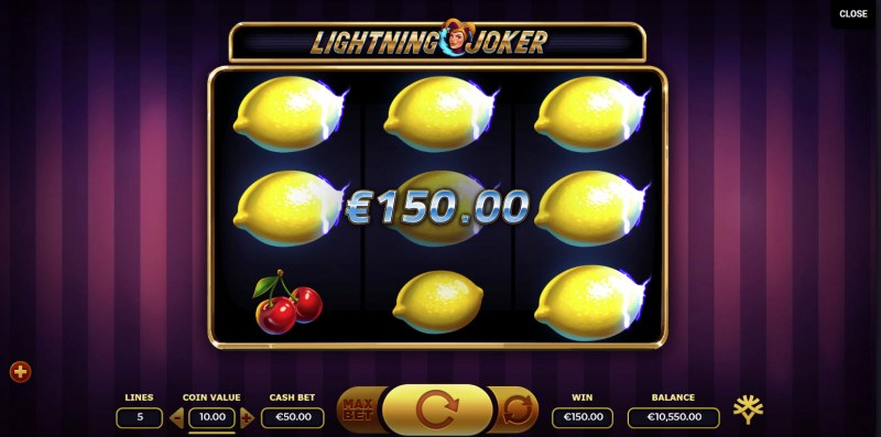 Lightning Joker :: Multiple winning paylines