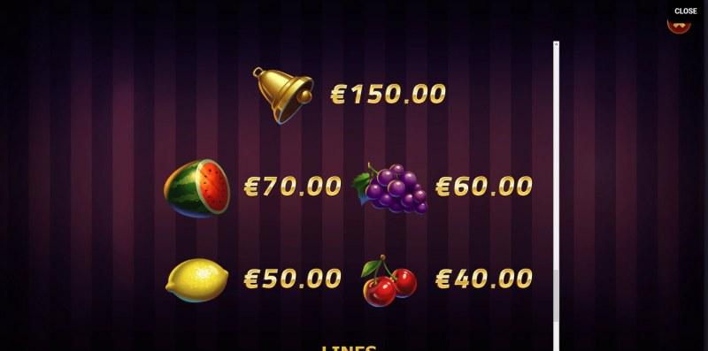 Lightning Joker :: Paytable - Low Value Symbols