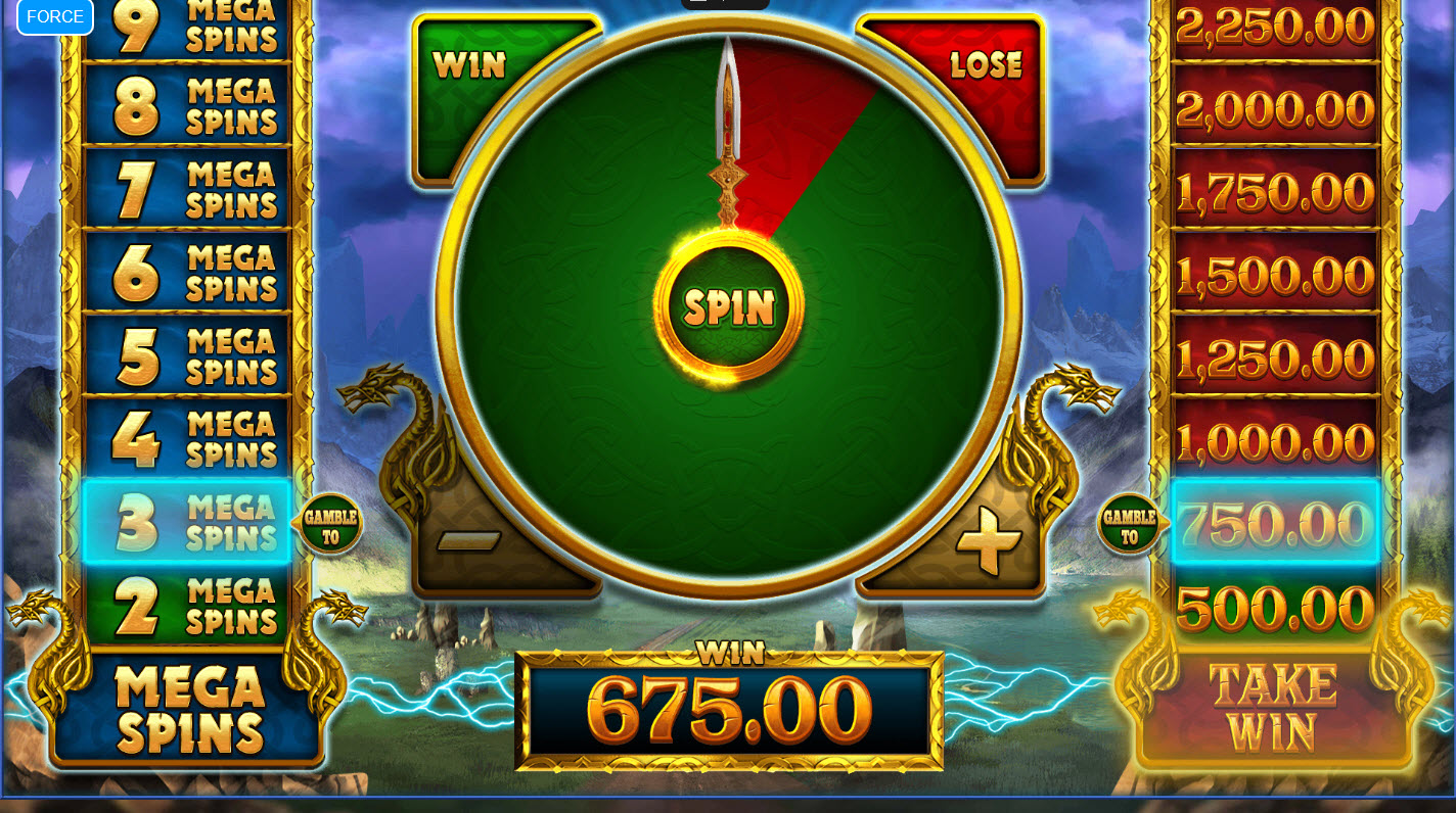 Lightning Strike Megaways :: Gamble Feature Game Board