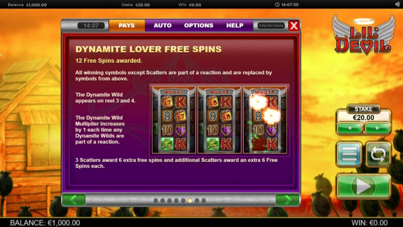 Lil' Devil :: Dynamite Lover Free Spins