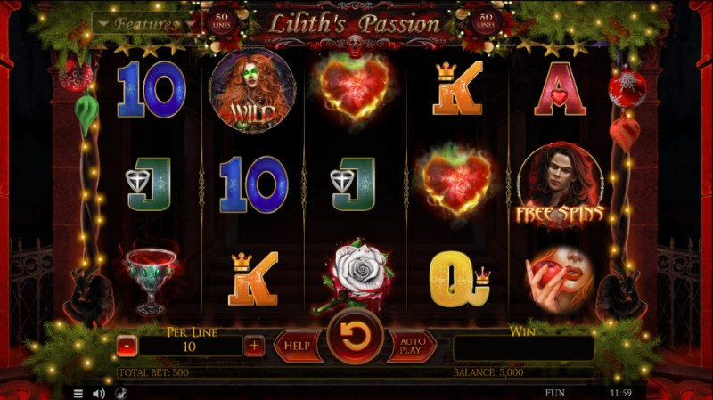 Lilith's Passion Christmas Edition :: Main Game Board