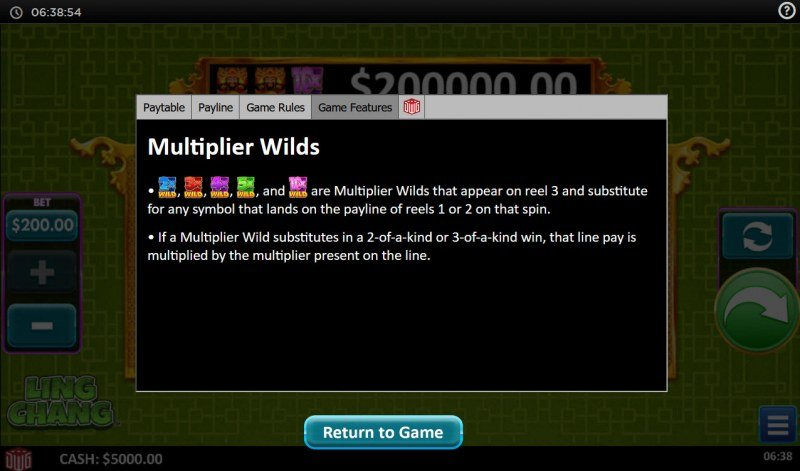 Ling Chang :: Multiplier Wilds