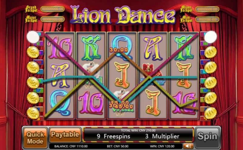 Lion Dance :: Multiple winning paylines