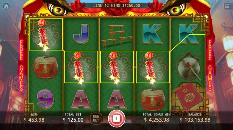 Lion Dance :: Multiple winning paylines