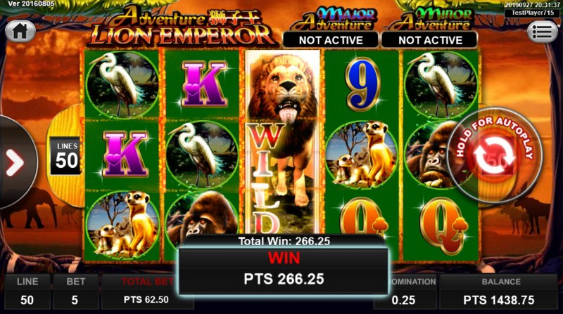 Lion Emperor :: Multiple winning paylines