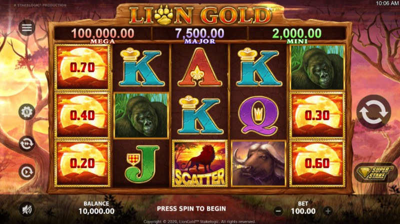 Lion Gold :: Main Game Board