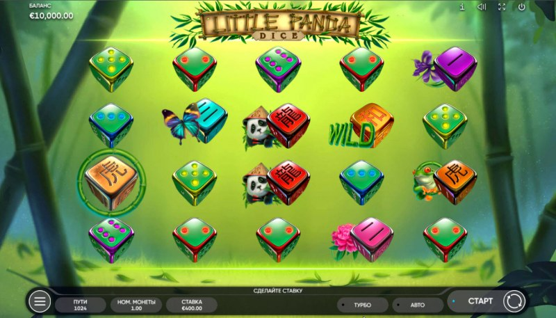 Little Panda Dice :: Base Game Screen