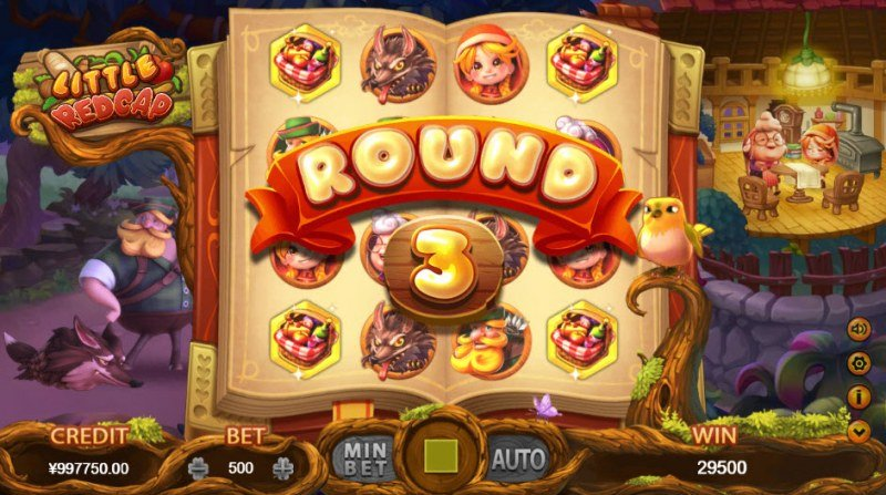 Little Red Cap :: Bonus game consists of 3 rounds