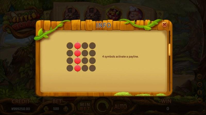 Little Red Cap :: 4 symbols activate a payline