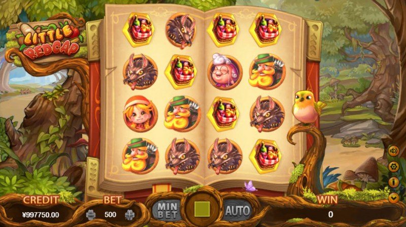 Little Red Cap :: Four wilds on a payline triggers bonus game